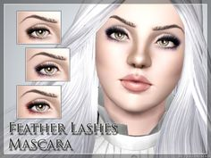 Feather Lashes Mascara by Pralinesims (Sims 3)- Fits with all eye- and faceshapes- Works for male and female sims- With launcher and CAS Thumbnail- Two recolorable channelshttp://www.thesimsresource.com/downloads/1285567