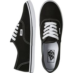 VANS Authentic lo pro shoe ($45) ❤ liked on Polyvore featuring shoes, sneakers, vans, flats, lace up flat shoes, vans sneakers, lightweight shoes, laced shoes and laced sneakers