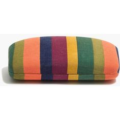 MADEWELL Sunglass Case in Moroccan Desert ($10) ❤ liked on Polyvore featuring accessories, multi colored stripe, sunglass pouch, madewell and sunglass pouch case