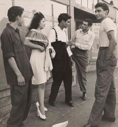 Chicanos hanging out.