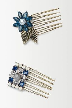 Pin for Later: The Boldest Hair Accessories to Turn Heads on New Year's Eve Anthropologie Art Deco Hair Combs Anthropologie Art Deco Hair Combs (£24)