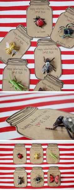 Love Bug Valentines Cards | DIY Valentines Cards for Kids to Make | DIY Valentines Ideas for Kids to Make