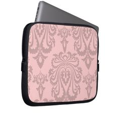 Shop Pink Damask Laptop Sleeves created by idesigncafe. Neoprene Laptop Sleeve, Laptop Sleeves, Pink Damask, Back To School Supplies, Tablet Cover, Custom Laptop, Front Bottoms, Laptop Bag, Colorful Backgrounds