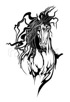Tribal Horse Royalty Free Stock Vector Art Illustration