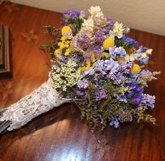 Wedding Bouquet Dried By ArtistryinFlorals