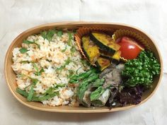 Salmon & shiso rice