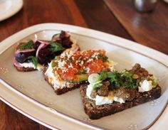 Smørrebrød (open-faced sandwiches) from Bar Tartine