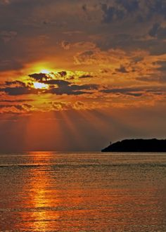 sunset at Put N Bay Ohio