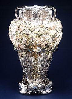 "The Tiffany Sterling Silver ""Magnolia"" Vase, 1893"
