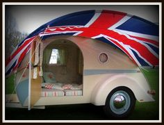 """Teardrop Trailer Interiors   Nicknamed """"Tilly"""" this classic retro teardrop is a deliberate ..."""