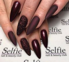 73 Most Stunning Dark Nails Inspirational Ideas ( Acrylic Nails, Matte Nails) ♥ - Diaror Diary - Page 13 ♥ 𝕴𝖋 𝖀 𝕷𝖎𝖐𝖊, 𝕱𝖔𝖑𝖑𝖔𝖜 𝖀𝖘!♥ ♥ ♥ ♥ ♥ ♥ ♥ ♥ ♥ ♥ ♥ ♥ ღ♥ Everythings about Stunning nails design you may love! ღ♥ s҉e҉x҉y҉ Cute Acrylic Nails, Fun Nails, Gorgeous Nails, Pretty Nails, Cracked Nails, Dark Nail Designs, Burgundy Nails, Dark Nails, Dark Nail Art