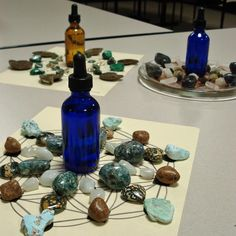 Photos from our Fun with Gem Elixirs Workshop 12/9/12 with Stacie & Christopher. Click for workshop schedule. :)
