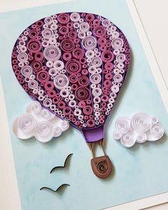 Hot Air Balloon Card Birthday Card Balloon by Gericards on Etsy