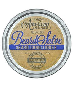 All American Gentlemen Salve, Beard Balm and Mustache Wax Supports Growth, Softens Hair, Reduces Itch, Bold, Fresh Scent Non Greasy Leave-in Formula, Natural and Organic, 2 oz. => Trust me, this is great! Click the image. : essential oils
