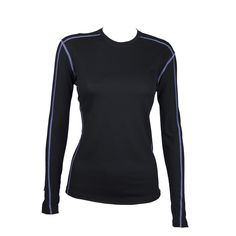 #CORE merino women's long sleeve crew neck top with contrast flat seam stitching and shaped panelling for added comfort, and subtle CORE brand printing. Single jersey, 180gsm lightweight fabric made from 100% 18.9micron #merino. http://www.merinooutlet.com/women/tops/core-ls-crew/?colour=31 #merinowool