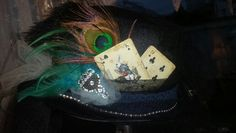 Burlesque top hat with peacock and ostrich feathers