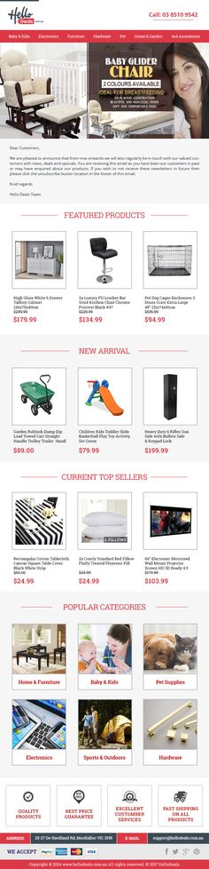 A Little Luxury At A Great Price!   Whether you want to purchase some stylish furniture to #decorate your #home, want some pet products or play toy for your kid, come to Hello Deals. Checkout our latest deals & place your order at 0385109542. Subscribe to our newsletter at http://www.hellodeals.com.au/ & stay updated with our latest offers