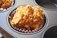 banana pumpkin muffins. #allergenfree - used 2 bananas, 1/2 cup applesauce & 1 cup pumpkin.