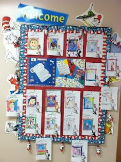 TONS of Dr. Seuss classroom themed ideas.