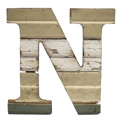 Recycled Wood Letter N - Paul Michael Company  Recycled Wood Letter S These Paul Michael Company Exclusive pieces are designed and made by hand in our Dermott, AR woodshop
