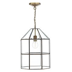 CAC0175 Cachette 1 Light Lantern in Antique Brass Antique Brass Finish with…
