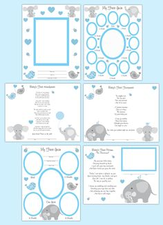 elephant baby boy memory book scrapbook pages.jpg (1100×1518)