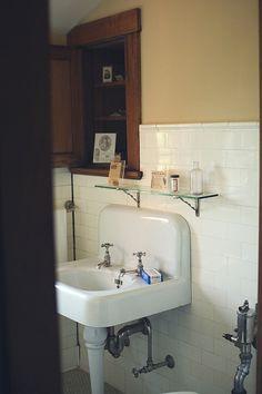 Old sink with great backsplash!