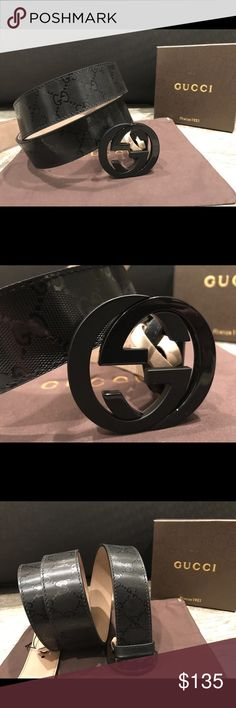Authentic Mens Gucci Belt Black Shiny Hello this belt is made in Italy and is 100% authentic!  I have a few different sizes, so let me know if you need help with any sizing.  If you would like more than one belt I will give you a good deal! Please put in your respectable offers! Thank you and happy poshing!😊 Gucci Accessories Belts