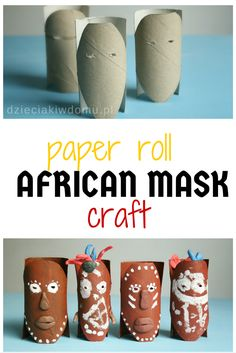 african mask craft idea for kids (Diy Paper Mask) Projects For Kids, Diy For Kids, Gifts For Kids, Kwanzaa, African Art Projects, African Art For Kids, African Children, African Crafts Kids, Art Pulp