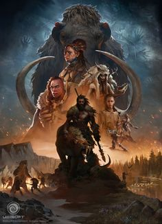 Far Cry Primal Poster, Naomi Savoie on ArtStation at https://www.artstation.com/artwork/3w56m