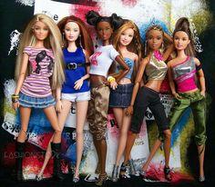 Cute bunch of Barbie dolls