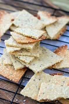 Paleo Crackers with Tahini & Wholegrain Mustard (tree nut free, gluten free, grain free)