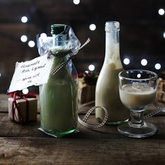 Surprise your grown-up friends with a bottle of homemade Irish cream as part of your Christmas hamper.