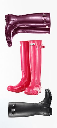 Original Hunter boots. I'l take a pair in each color, please!