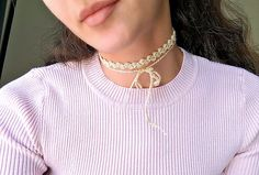 Super cool chokers (along with everything else from the 90's) are back in style! None of my vintage 90's chokers survived the 2000's so rather than going