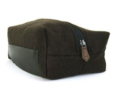 Wool toiletry bag for men wash bag in herringbone by CocoBags,  58.00. Find  this Pin and more on Bags - Dopp Kit  ... 277c1c21b6