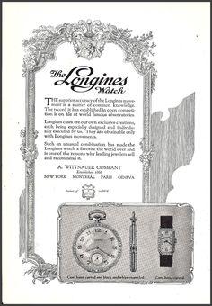 1923 Longines watch advertisement