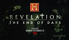 LOOKING FOR THAT BLESSED HOPE: The History Channel, of all places, is actually airing a multi-part series on the Pretribulation Rapture leading into the time of the Great Tribulation. It's very rare when Hollywood gets anything doctrinally correct, so this could be very exciting. Airs December 29th. #HistoryChannel #Revelation http://www.nowtheendbegins.com/blog/?p=29269
