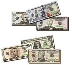 BEST REAL LOOKING PLAY MONEY, REAL SIZE and COLOR DOUBLE SIDED VALUE BUNDLE 5 PACKS of $100's 50's 20's 10's 5's 1s Each Pack Includes 100 Bills >>> For more information, visit image link.