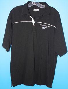 Toronto Blue Jays MLB Mens Golf Polo Shirt Size Large Black Ontour Stitched  Logo  MLB 3df20131a