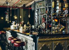 Steampunk Coffee Shop in Cape Town