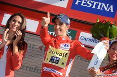Alberto Contador is now race leader in the 2014 Vuelta a Espana