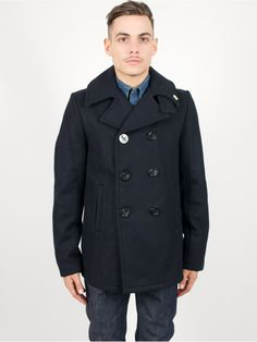 Fidelity Short Peacoat Jacket Wool Dark Navy