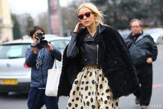Acne Studios sunglasses, jacket, coat, and shorts