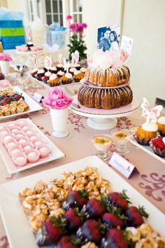 Wedding Dessert Table! Bundt Cake, Pie, Scones, Cookies, Etc.