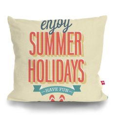 Cushion Cover SUMMER HOLIDAYS by Sticky!!!