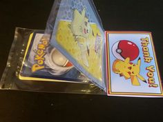 Pokemon party favours that I made