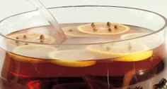 Spiced Cider : This holiday beverage will greet your guests with a wonderful aroma. If desired, garnish cider with orange slices studded with whole cloves.