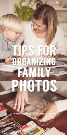 Get your photos out of storage with these quick tips for getting your family photos organized! Via Simple As That