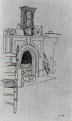 Edward Hopper (1882-1967)  Fireplace at Hopper's New York Apartment -